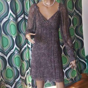 Gianni Bini dress above knee low v-neck sheer